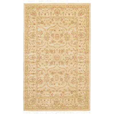 Fonciere Cream Area Rug Rug Size: Rectangle 910 x 13