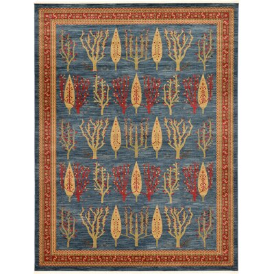 Foret Noire Blue Area Rug Rug Size: Rectangle 9 x 12