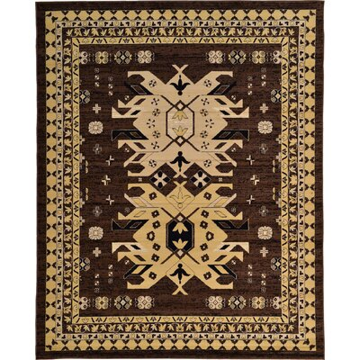 Valley Brown Area Rug Rug Size: Rectangle 8' x 10'