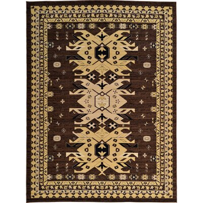 Valley Brown Area Rug Rug Size: Rectangle 9'10