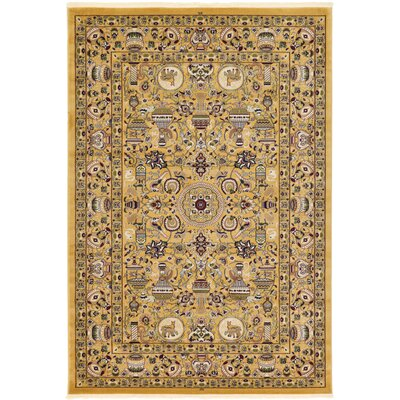 Altadena Gold Area Rug Rug Size: 67 x 910
