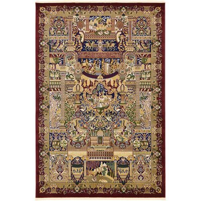 Altadena Burgundy Area Rug Rug Size: Rectangle 67 x 910