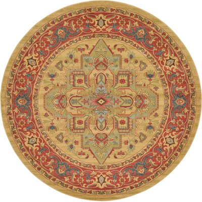 Zoey Light Brown Area Rug Rug Size: Round 8