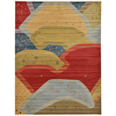Jan Abstract Area Rug Rug Size: 9 x 12