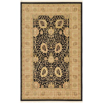 Britley Black Ikat Area Rug Rug Size: Rectangle 5 x 8