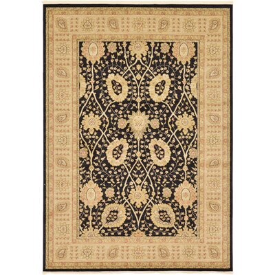 Britley Black Ikat Area Rug Rug Size: Rectangle 7 x 10