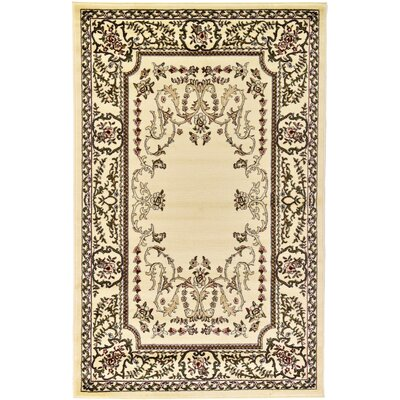 Newbern Cream Area Rug Rug Size: 5 x 8