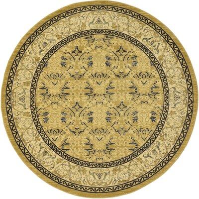 Jamar Beige Area Rug Rug Size: Round 8