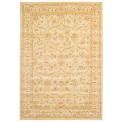 Fonciere Cream Area Rug Rug Size: 7 x 10