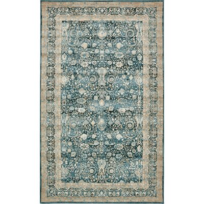 Miara Dark Blue Area Rug Rug Size: Rectangle 5 x 8