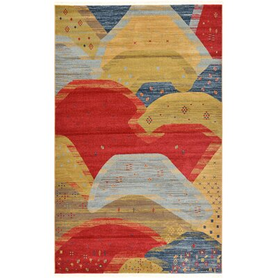 Jan Abstract Area Rug Rug Size: Rectangle 5 x 8
