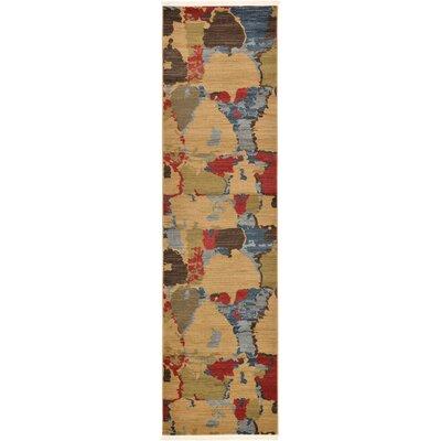 Jan Light Brown Area Rug Rug Size: Runner 27 x 10