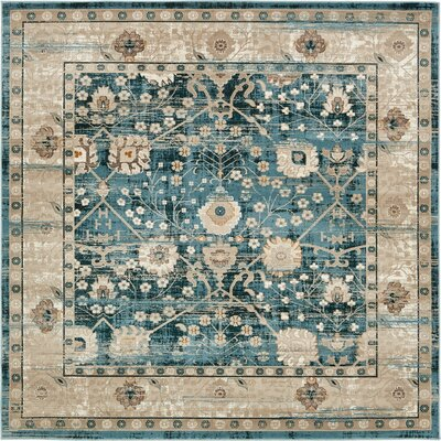 Jayleen Dark Blue Area Rug Rug Size: Square 6