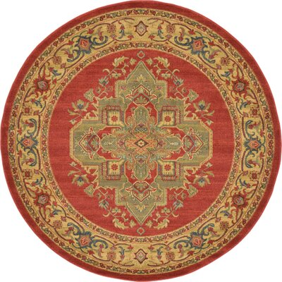 Zoey Red Area Rug Rug Size: 6 x 6