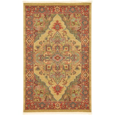 Zoey Light Brown Area Rug Rug Size: Rectangle 33 x 53