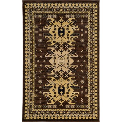 Valley Brown Area Rug Rug Size: Rectangle 5' x 8'