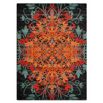 Anneliese Orange/Green Area Rug Rug Size: 10 x 13