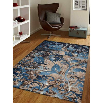Aresford Blue Area Rug Rug Size: Rectangle 4 x 6