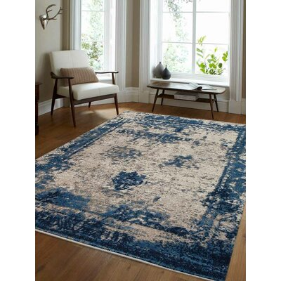 Annice Beige/Blue Area Rug Rug Size: Rectangle 6 x 9