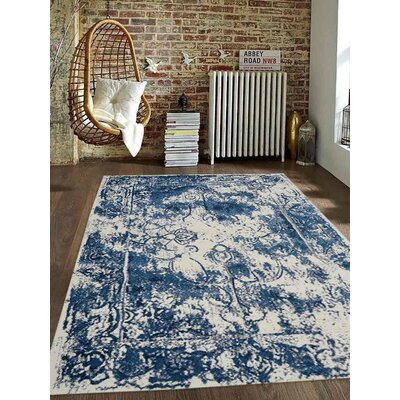 Appenzell Ivory/Blue Area Rug Rug Size: Rectangle 10 x 13
