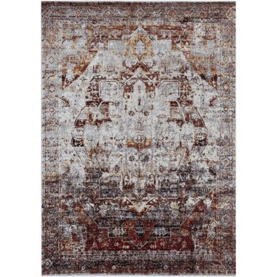 Brahim Red/Gray Area Rug Rug Size: Rectangle 311 x 57