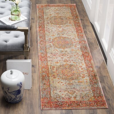 Alena Lake Saffron Area Rug Rug Size: Rectangle 6 x 9