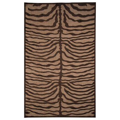 Treasa Ivory/Chocolate Area Rug Rug Size: 5 x 8