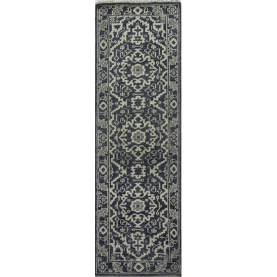 Ferran Hand-Knotted Azure Area Rug Rug Size: Runner 26 x 8