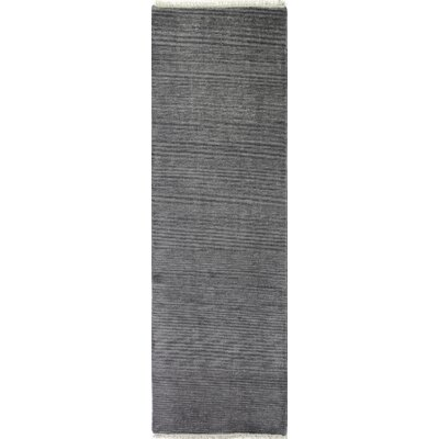 Cristhian Hand-Knotted Wool Grey Area Rug Rug Size: Runner 26 x 8