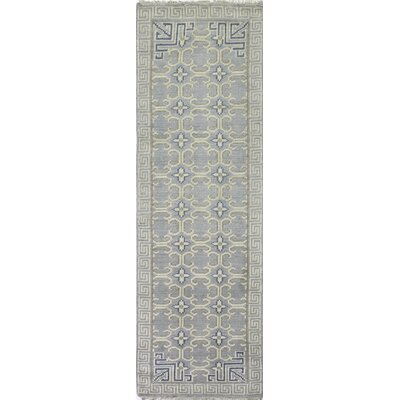 Cristhian Hand-Knotted Grey Area Rug Rug Size: Runner 26 x 8