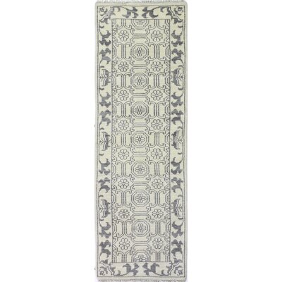 Cristhian Hand-Knotted Ivory Area Rug Rug Size: Runner 26 x 8