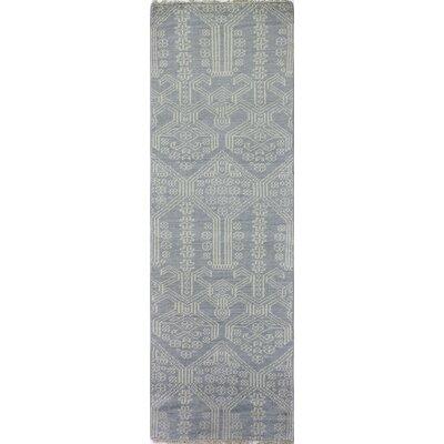 Ferran Hand-Knotted Light Blue Area Rug Rug Size: Runner 26 x 8