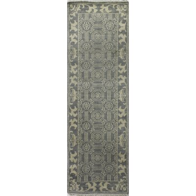 Cristhian Hand-Knotted Slate Area Rug Rug Size: Runner 26 x 8