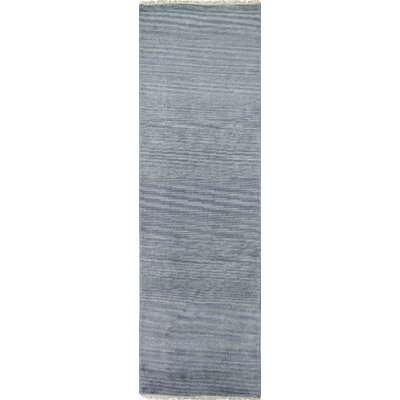 Ferran Hand-Knotted Teal Area Rug Rug Size: Runner 26 x 8