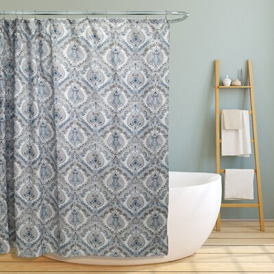 Majandra Paisley Damask Shower Curtain Color: Teal