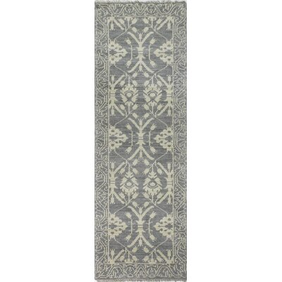 Ferran Hand-Knotted Slate Area Rug Rug Size: Runner 26 x 8