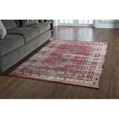 Shelie Goravan Red Area Rug Rug Size: 2 x 3