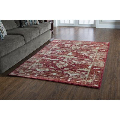 Shelie Hamadan Red Area Rug Rug Size: Rectangle 2 x 3