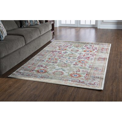 Shelie Mahal Ivory Area Rug Rug Size: Rectangle 2 x 3