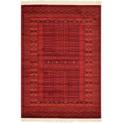 Ivette Red Southwestern Area Rug Rug Size: Rectangle 6 x 9