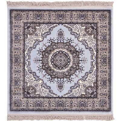 Wyatt Light Blue Area Rug Rug Size: Square 4