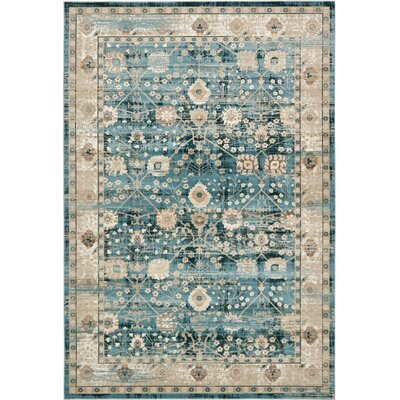 Hurst Dark Blue Area Rug Rug Size: Rectangle 7 x 10