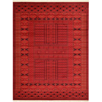 Ivette Red Southwestern Area Rug Rug Size: Rectangle 8 x 11