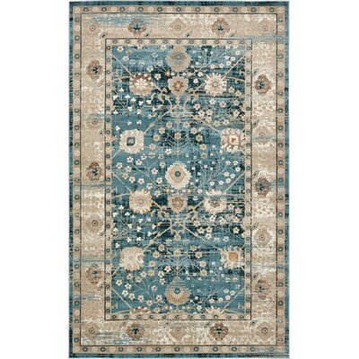 Jayleen Dark Blue Area Rug Rug Size: Rectangle 5 x 8