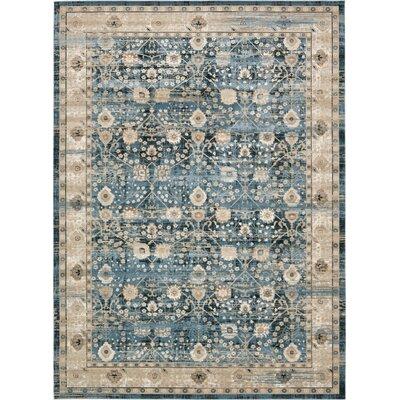 Hurst Dark Blue Area Rug Rug Size: Rectangle 102 x 135