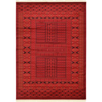 Ivette Red Southwestern Area Rug Rug Size: Rectangle 7 x 10