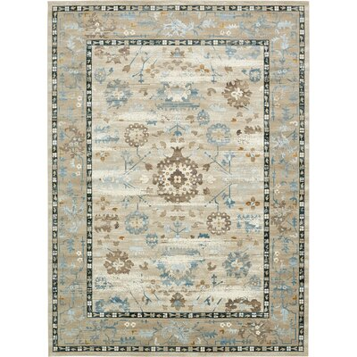 Miara Beige Area Rug Rug Size: Rectangle 102 x 135