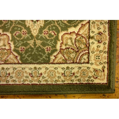 Britain Green/Beige Oriental Area Rug