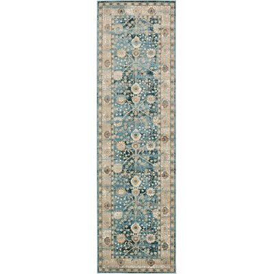 Hurst Dark Blue Area Rug Rug Size: Rectangle 3 x 10