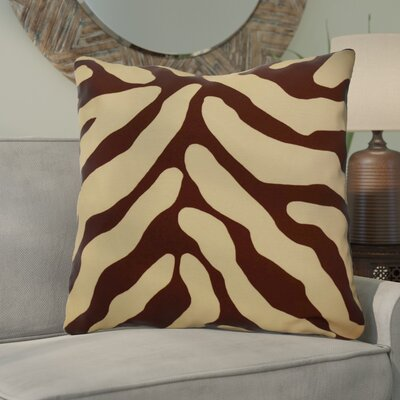 Kam Animal Striped Geometric Euro Pillow Color: Brown